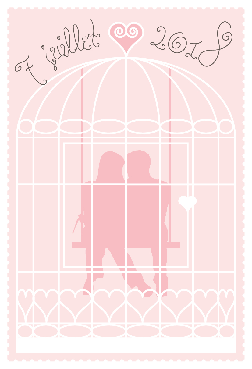 Faire-part de mariage cage à oiseaux couverture