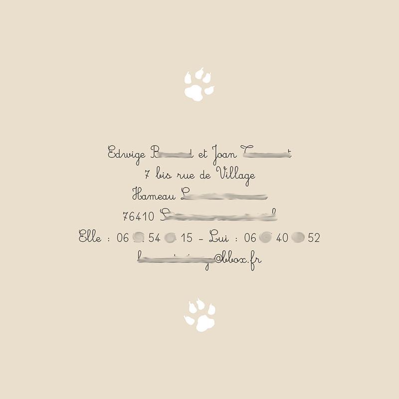 Faire-part de mariage animal domestique page 4