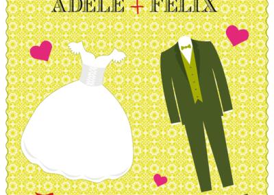 Faire-part de mariage des mariés joyeux