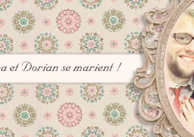 Faire-part de mariage british vintage