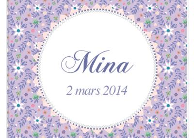 Faire-part de naissance Liberty Mina