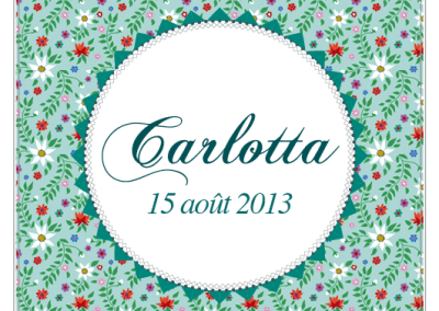 Faire-part de naissance Liberty Carlotta