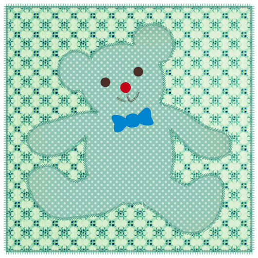 Faire-part de naissance Doudou patchwork garçon