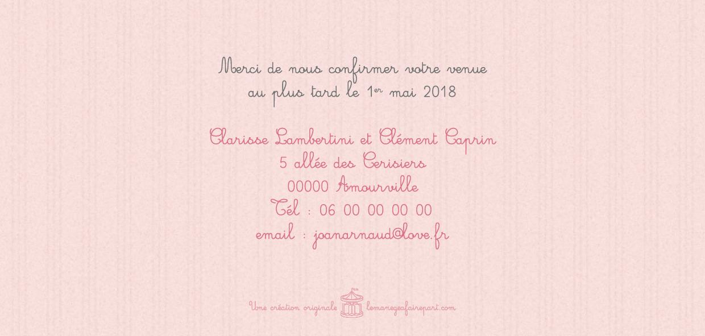 Faire-part de mariage Fleurs de cerisier page 4