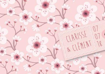 Faire-part de mariage «fleurs de cerisier»