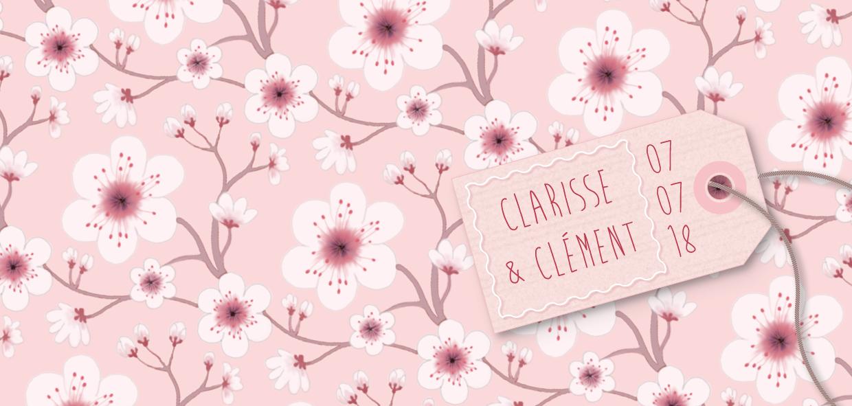 Faire-part de mariage Fleurs de cerisier