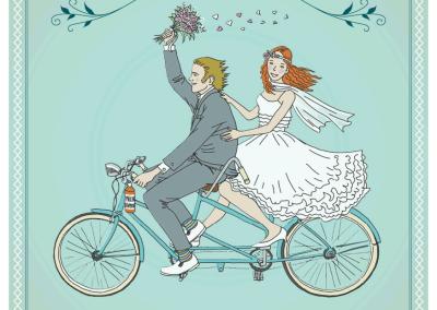 Faire-part de mariage Tandem