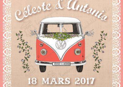 Faire-part de mariage – Mariage en Combi VW !