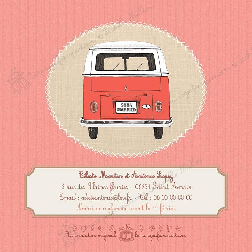 Faire-part mariage Combi VW - page 4