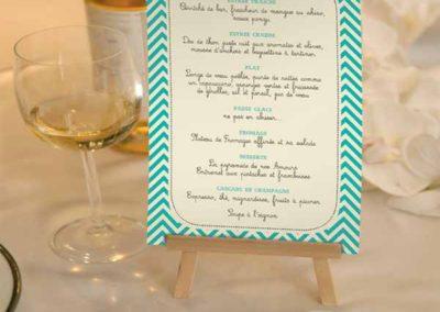 Menu/Plan de table