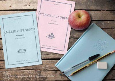 Faire-part de mariage – Le vieux cahier