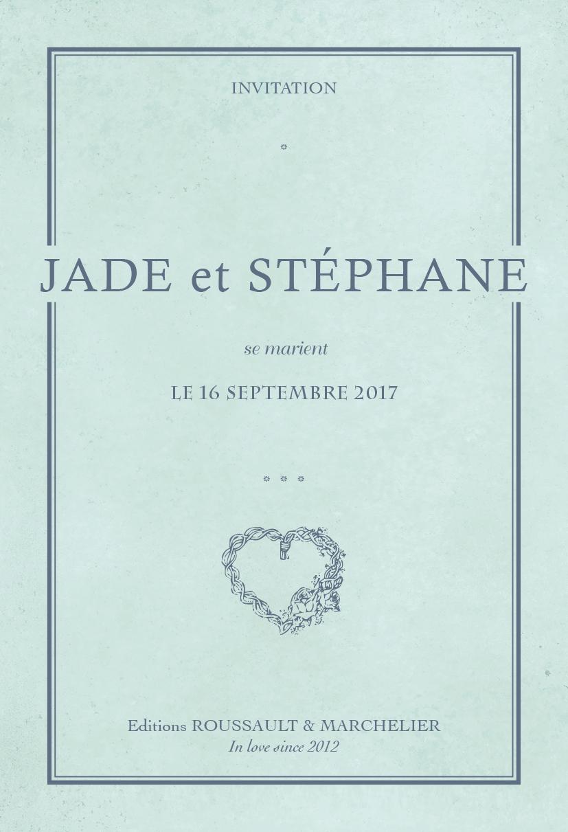 Faire-part de mariage - Cahier vintage - page 1