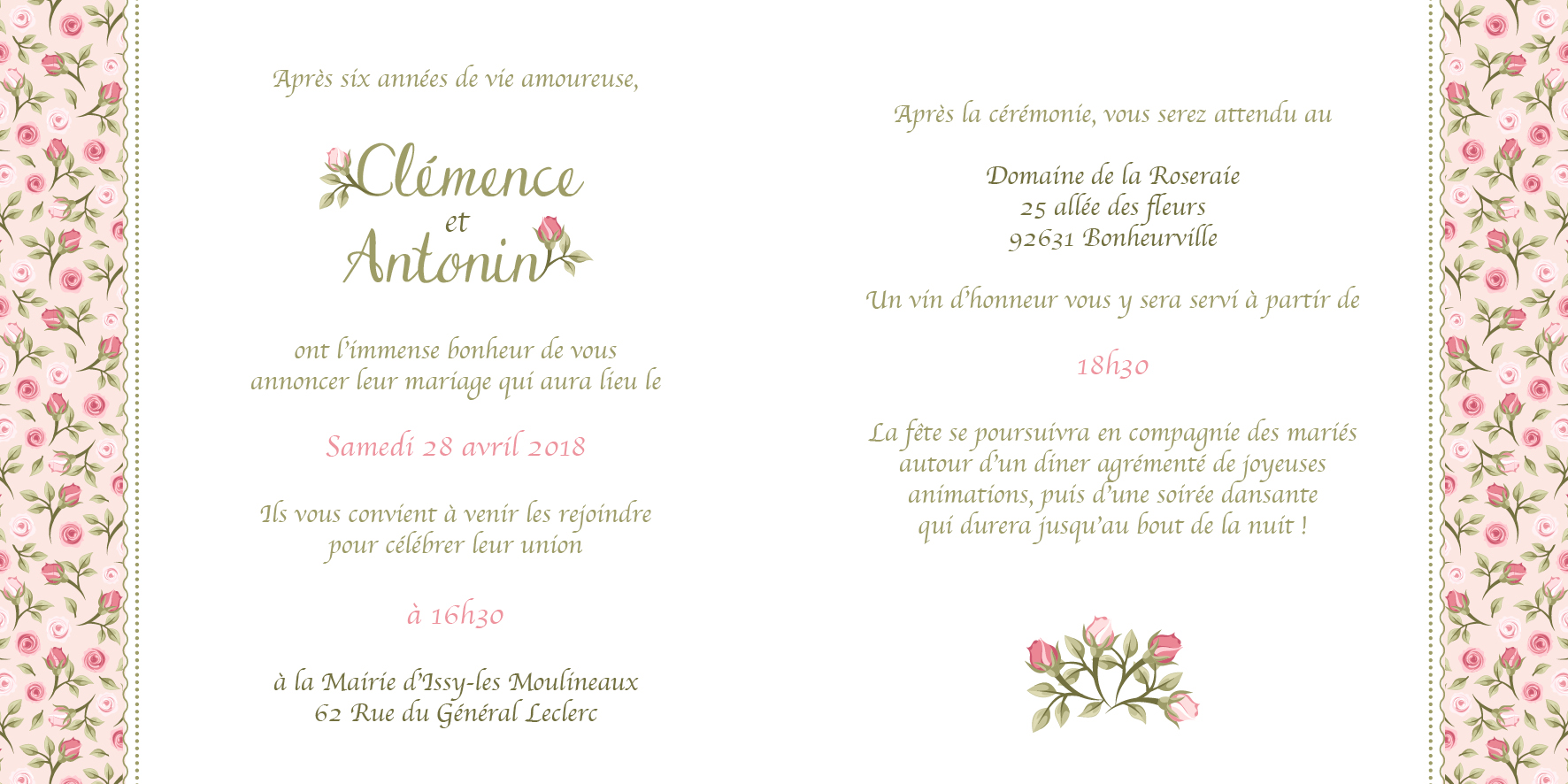 FP mariage - Les roses anciennes -Rose- page 2-3
