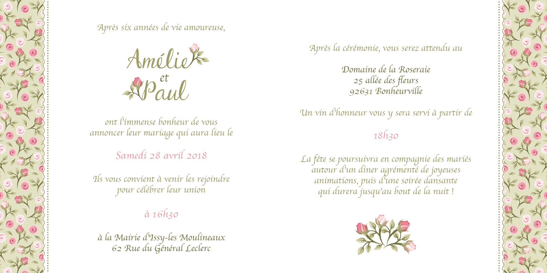 FP mariage - Les roses anciennes -Vert- page 2-3