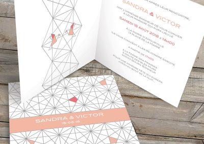 Faire-part de mariage – Himmeli & origami